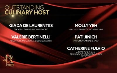 Catherine Fulvio has been nominated for a Daytime Emmy Award for Outstanding Culinary Host