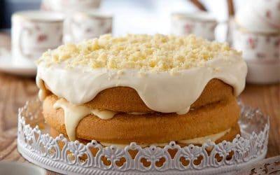 Lemon Cream Cake (Torta Mimosa)