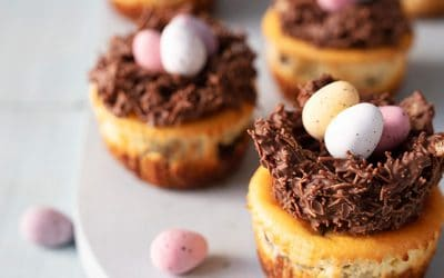 Easter Nest Cheesecakes for Siúcra x Catherine