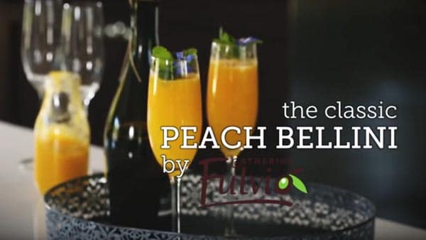 Catherine Fulvio's Bellini – a twist on the refreshing classic cocktail