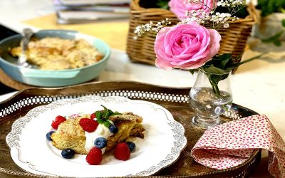 Overnight French Toast Crumble with Yoghurt and Berries