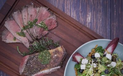 Butterflied Leg of Lamb with Chimichurri