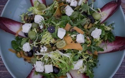 Pistachio, Carrot, Grape and Goat's Cheese Salad