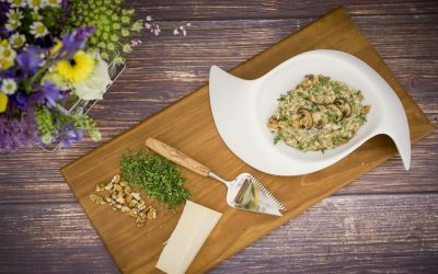 Wild Mushrooms Risotto with Walnuts and Thyme