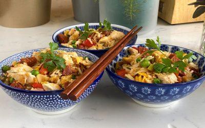 Chorizo Chicken Egg Fried Rice
