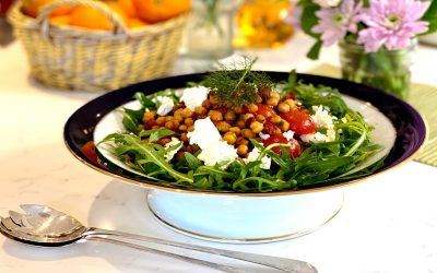 Middle Eastern Chickpea & Feta Salad