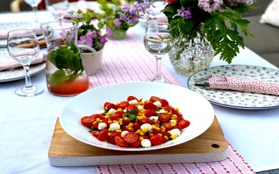 Caprese and Corn Salad
