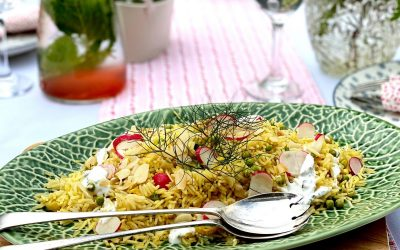Rice Salad with Mint Yoghurt
